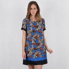 Платье короткое прямое с графическим рисунком, без рукавов Molly Bracken