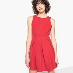 Платье короткое с круглым вырезом и открытой спинкой, без рукавов Suncoo