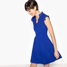 Платье с V-образным кружевным вырезом Suncoo