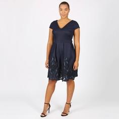 Платье однотонное средней длины, расширяющееся книзу Lovedrobe