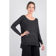 Пуловер из тонкого трикотажа без воротника Molly Bracken