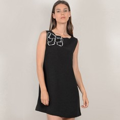 Платье короткое расклешенное однотонное, без рукавов Molly Bracken