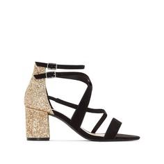 Босоножки на каблуке с блестками Mademoiselle R