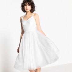 Платье свадебное расклешенное из кружева с бусинами Mademoiselle R