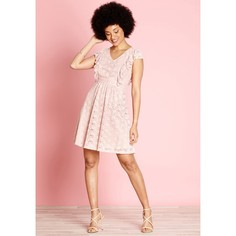 Платье расклешенное из кружева, длина до колен Yumi