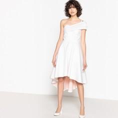 Платье свадебное с одним открытым плечом и бантом сзади Mademoiselle R