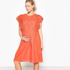 Платье для периода беременности с вышивкой спереди LA Redoute Maternite