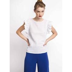 Блузка в полоску с воланами в проймах Compania Fantastica