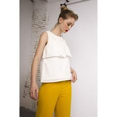 Блузка без рукавов с английским шитьём Compania Fantastica