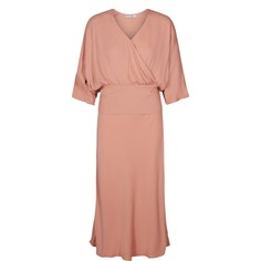 Платье длинное расклешенное однотонное с рукавами 3/4 Numph