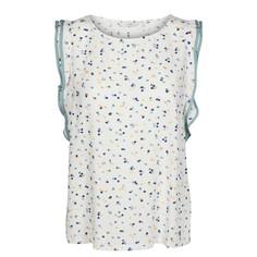 Блузка с круглым вырезом и рисунком в горошек, без рукавов Numph