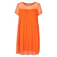 Платье струящееся расклешенное плиссированное с короткими рукавами Numph