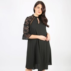 Платье расклешенное средней длины с рукавами 3/4 Lovedrobe