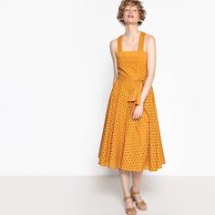 Платье с английской вышивкой на широких бретелях Mademoiselle R