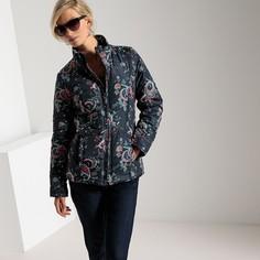 Куртка стеганая короткая с принтом и обработкой Тефлон® Anne Weyburn