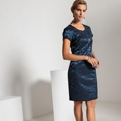 Платье прямое жаккардовое средней длины Anne Weyburn