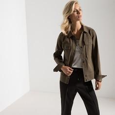 Жакет прямого покроя в стиле милитари с накладными карманами, из хлопка, стрейч Anne Weyburn