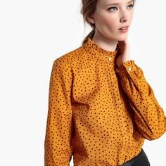 Рубашка в горошек с воротником-стойкой Mademoiselle R