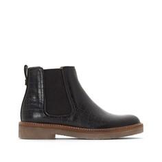 Ботинки из кожи Oxfordchic Kickers