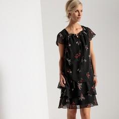Платье расклешенное с рисунком Anne Weyburn