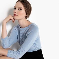 Пуловер ажурный с укороченными рукавами Mademoiselle R