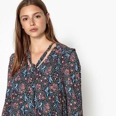 Платье короткое с цветочным принтом CHERYNE Suncoo