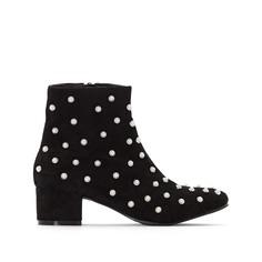 Ботинки на среднем каблуке с бусинами Mademoiselle R
