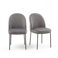 Комплект из 2 велюровых стульев La Redoute