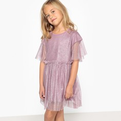 Платье из блестящего тюля на подкладке 3-12 лет La Redoute Collections