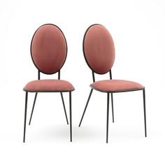 Комплект из 2 стульев из металла и велюра NOVANI La Redoute Interieurs