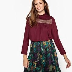 Блузка с воротником-стойкой и длинными рукавами SEE U Soon
