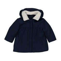 8ec028fba86 Пальто из шерстяного драпа с капюшоном 3 мес- 3 лет La Redoute Collections