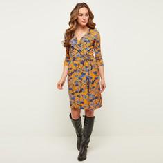 Платье с запахом, рукавами 3/4 и цветочным принтом JOE Browns