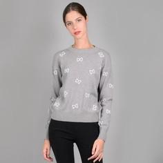 Пуловер с круглым вырезом, бантами с вышивкой и украшениями Molly Bracken