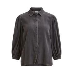 Рубашка из лиоцелла, с отложным воротником и напускными рукавами Vila