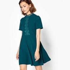 Платье расклешенное короткое, с короткими рукавами Suncoo
