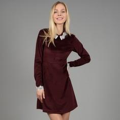 Платье велюровое с кружевом Molly Bracken
