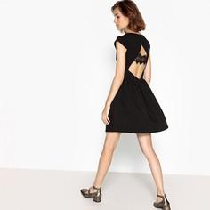 Платье короткое расклешенное с короткими рукавами Suncoo