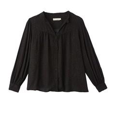 Блузка с v-образным вырезом с леопардовым принтом и длинными рукавами SEE U Soon