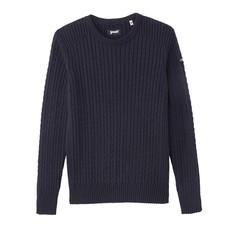 Пуловер с круглым вырезом и узором косы PL YANKER 1 Schott