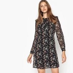 Платье-солнце короткоес цветочным рисунком SEE U Soon