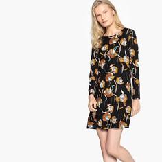 Платье короткое с цветочным принтом в форме трапеции Compania Fantastica