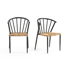 Комплект из 2 стульев для сада GLAZIN