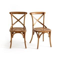 Комплект из 2 стульев с крестообразной спинкой Cedak La Redoute Interieurs
