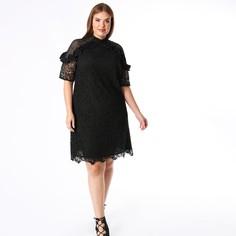 Платье из кружева с оригинальными воланами и короткими рукавами Lovedrobe