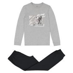 Пижама с фотопринтом скейт с длинными рукавами 10 -16 лет La Redoute Collections