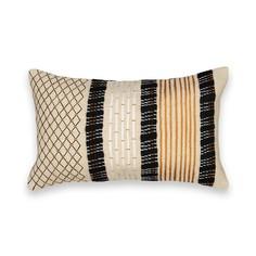 Чехол на подушку-валик с вышивкой, Luzubal Am.Pm.