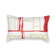 Чехол на подушку-валик в стиле пэчворк с вышивкой Am.Pm.