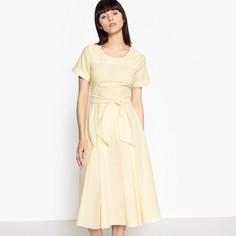 Платье в полоску с поясом Mademoiselle R