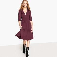 Платье расклешенное, длина миди, 3/4, рукава 3/4 SEE U Soon